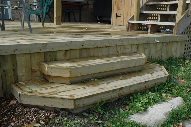 Box Steps Plans For Decks : Build a wood deck in simple steps step finishing