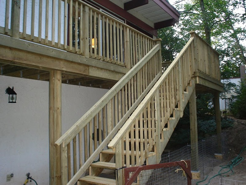 build a wood deck in 4 simple steps step 4 finishing touches